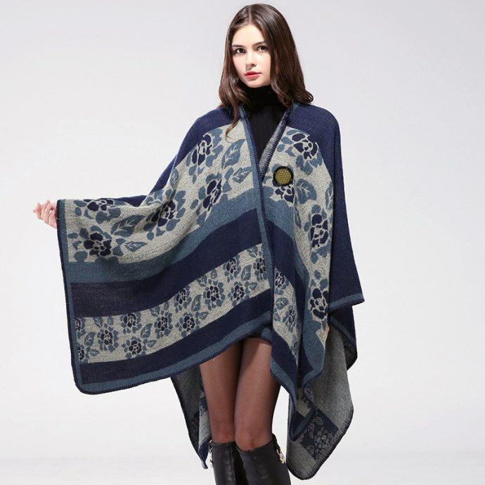 Crystal Poncho Nine BlueFlowers10