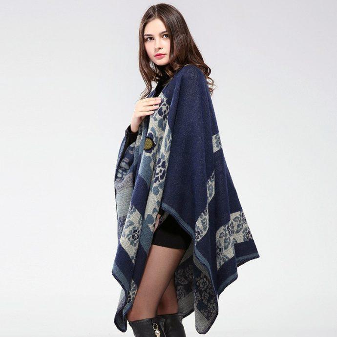 Crystal Poncho Nine BlueFlowers5