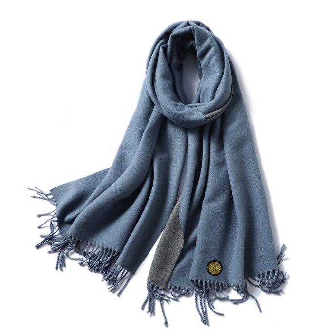Crystal Schal One Blue Grey