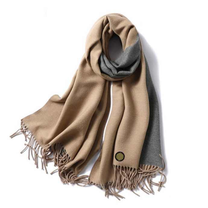 Crystal Schal One LightBrown Grey