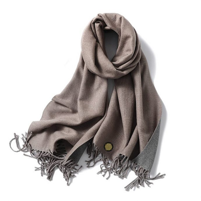 Crystal Schal One Taupe Grey