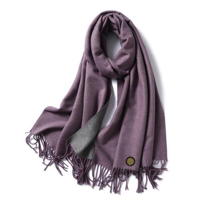 Crystal Schal One Violet Grey