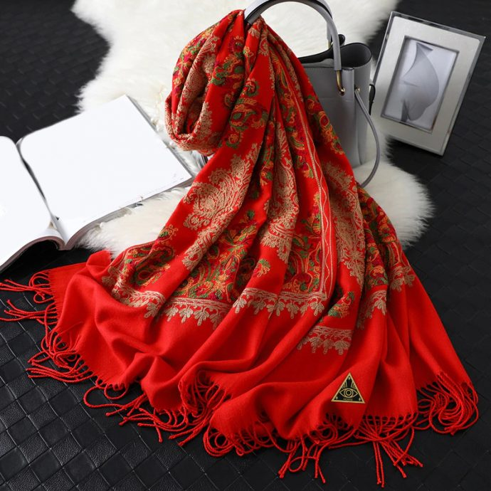 Crystal Schal Red