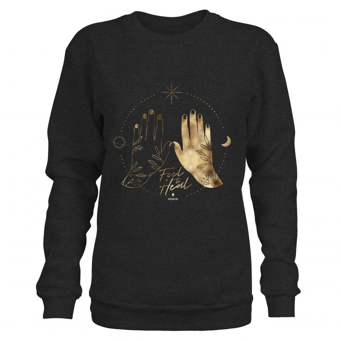 Crystal Sweatshirt Hands DarkHeatherGrey scaled