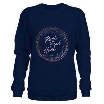 Crystal Sweatshirt Ring Navy