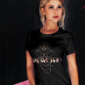 Crystal T Shirt Protection Energy AllSeeingEye Black Live