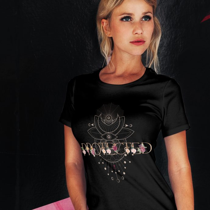Crystal T Shirt Protection Energy AllSeeingEye Black Live scaled
