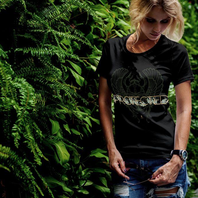 Crystal T Shirt Protection Energy LuckyBug Black Live scaled