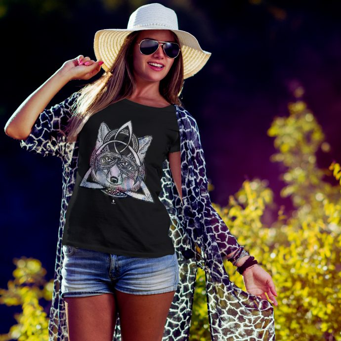 Crystal T Shirt Protection Energy Wolf Black Live scaled