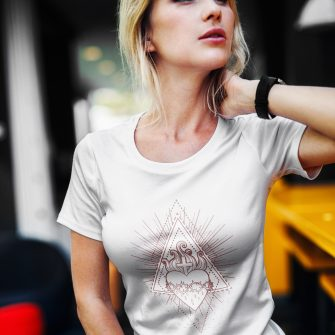 Crystal T Shirt Selflove Energy SacredHeart White Live